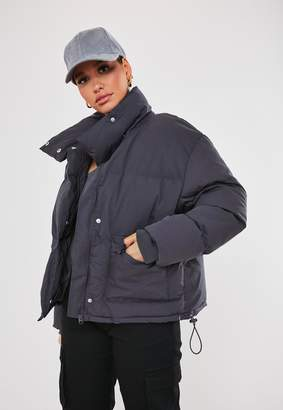 Missguided Grey Ultimate Puffer Jacket