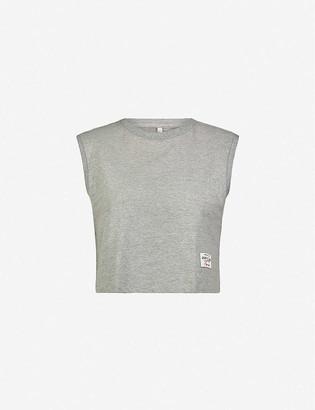 Adam Selman Sport Muscle cropped stretch-cotton jersey top