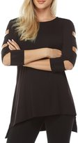 Peter Nygard Embellished Cold Shoulder Tunic