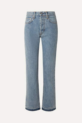 Helmut Lang Cropped High-rise Straight-leg Jeans - Indigo