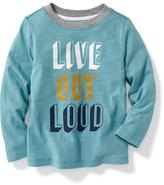 Old Navy Slub-Knit Graphic Tee for Toddler
