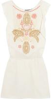 Antik Batik Embroidered Cotton Mini Dress