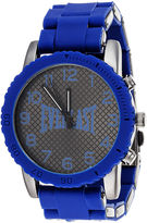 Everlast Mens Blue Silicone Strap Sport Watch