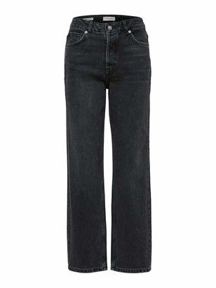 Selected Women's Slfkate Hw Straight Ston Jea W Noos Jeans