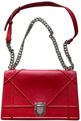 Christian Dior Diorama Red Leather Handbags