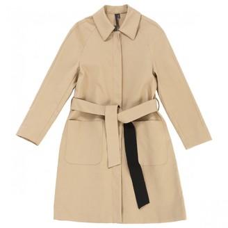 Topshop Tophop Boutique Brown Cotton Coat for Women