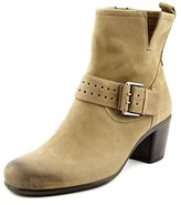 Ecco Touch 55 Mid Cut Zip Round Toe Leather Ankle Boot.