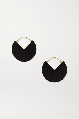 Isabel Marant Reversible Gold-tone And Enamel Hoop Earrings - one size