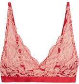 Mimi Holliday Leavers Lace Satin And Tulle Soft-Cup Bra