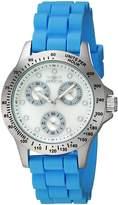Invicta Women's Speedway Blue Silicone Band Steel Case Quartz MOP Dial Analog Watch 21970