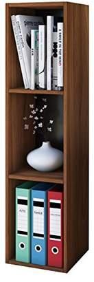 VCM Shelf Storage Unit Office Filing Shelving Furniture Bookcase Bookshelf Cabinet Cube CD DVD Mendas Core walnut