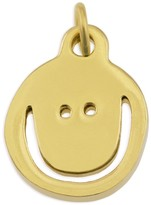 Peace Love World Small Yellow Gold Happy Necklace Charm