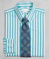 Brooks Brothers Golden Fleece Milano Slim-Fit Dress Shirt, Button-Down Collar Multi-Stripe Poplin