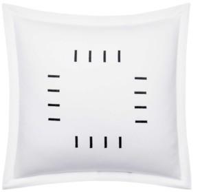 Vera Wang Zig Zag Bars Embroidered Throw Pillow Bedding