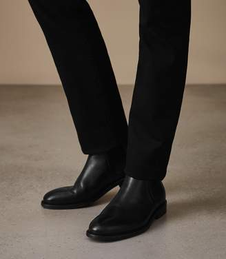 Reiss Tenor - Leather Chelsea Boots in Black
