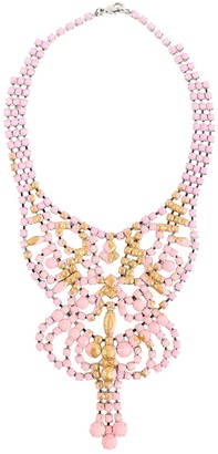 Tom Binns Pink Silver Plated Necklaces