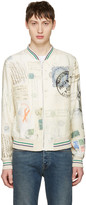Alexander McQueen Ivory 'Letters From India' Bomber Jacket