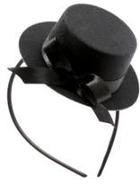 Black Mini Top Hat Headband