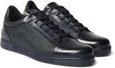 Ermenegildo Zegna - Pelle Tessuta Leather Sneakers