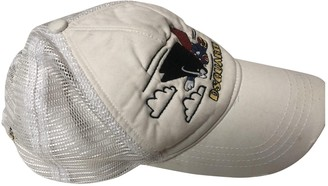 DSQUARED2 White Polyester Hats & pull on hats