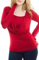 Women's Nurture-Elle Cowl Neck Long Sleeve Nursing Top