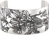 Ice.com Dragon Lily Stainless Steel Cuff By Tattooed Steel