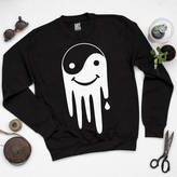 Art Disco 'Yin The Yang Out' Unisex Black Sweatshirt