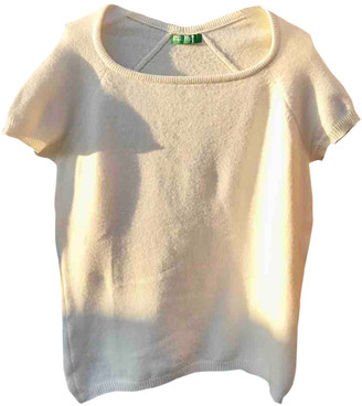 Benetton White Wool Knitwear
