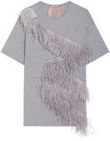 No.21 Grey Feathers Top