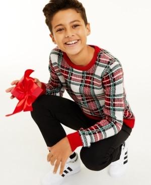 Charter Club Big Boys Plaid Sweater, Created for Macy's