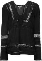 Derek Lam 10 Crosby lace panel blouse - women - Silk - 0