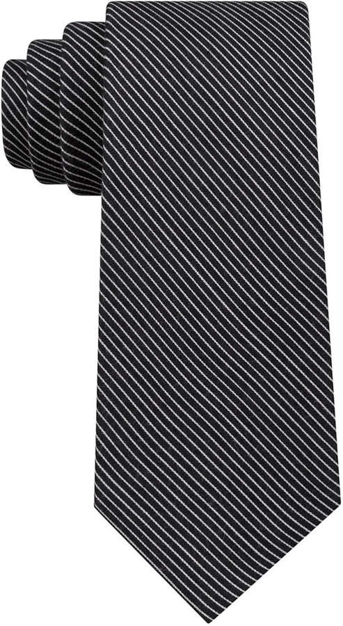 Calvin Klein Men Slim Pintstripe Tie