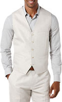 Perry Ellis Pointed Twill Vest