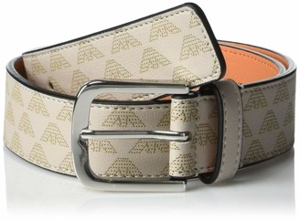 Emporio Armani Women's Leather Belt with Perferated Eagle Detail