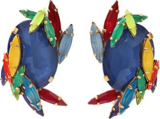 Erickson Beamon Rhinestone Splash Earrings