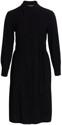 Marina Rinaldi, Plus Size Dicembre Pinstripe Long-Sleeve Shirt Dress