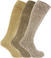Universal Textiles Mens Knee High Chunky Thermal Wool Boot Socks (Pack Of 3)