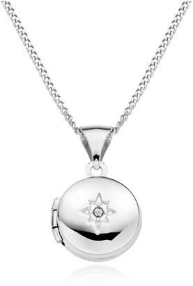 Beaverbrooks 9ct White Gold Diamond Locket