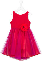 La Stupenderia flower corsage tulle dress - kids - Acrylic/Polyester/Viscose - 10 yrs