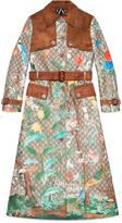 Gucci Tian print GG Supreme coat