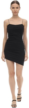 Alexander Wang Asymmetric Compact Jersey Mini Dress