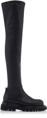 Bottega Veneta Chunky Over the Knee Leather Boots