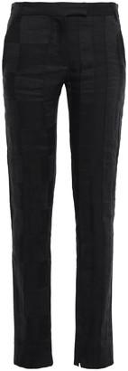 Ann Demeulemeester Linen-blend Jacquard Slim-leg Pants