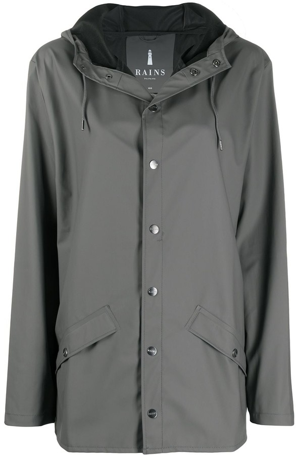 Rains Drawstring Hooded Coat