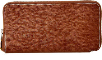 Hermes Brown Epsom Leather Silk'in