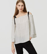 LOFT Striped Strappy Off The Shoulder Blouse