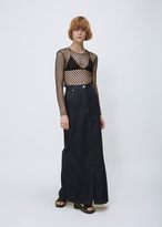 Dries Van Noten indigo silvan long skirt