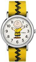 Timex Peanuts Charlie Brown Moving Hands Yellow Strap Watch