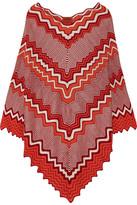Missoni Metallic Crochet-knit Poncho - Orange