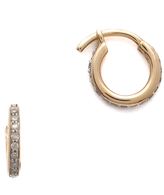 Adina Pave Huggie Hoop Earrings